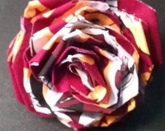 Fabric Rose Barrette Washington