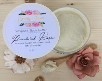 Organic Powdered Rose Body Butter