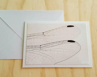 6 x 4 inches Handmade Card and envelope Photo Greeting art Cards Dragonfly wings fly photography anniversary occasion blank