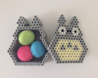 perler bead totoro box, trinket box, jewelry box 3D
