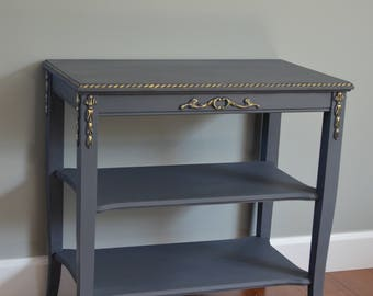 Vintage Painted Side Table - PICK UP ONLY
