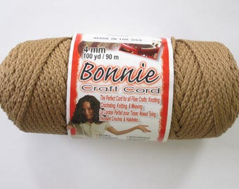 Bonnie Macrame Craft Cord 4mm 100 Yards Cinnamon