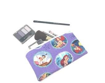 Cosmetic Bag, Makeup Brush Holder, Make-up Bag, Makeup Bag, Pencil Case, Makeup Organizer, Makeup Organizers, Zipper Pouch, Ariel, Disney