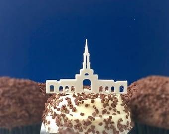 ONE DOZEN Sacramento Temple Cupcake Toppers