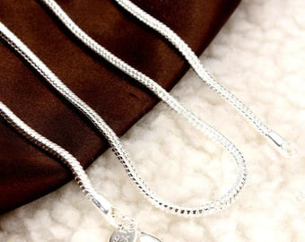 "925 Sterling Silver  18"" and 20""  3mm thick Snake Chain Necklaces,come with nice Satin Bag"