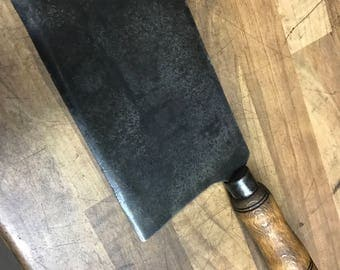 Vintage French Butchers Meat Cleaver