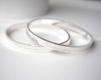 Bangle ~ maid of honor ~ small silver