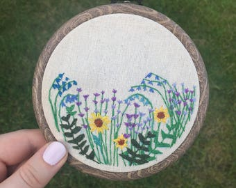 Floral Embroidery Hoop 4 Inches
