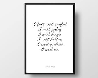Affiche wanted personnalis etsy for Art minimaliste citation