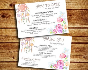 Floral Care Card And Thank You Card, Home Office Approved, Fashion Consultant Digital Cards, For Fashion Retailer, Customized Cards