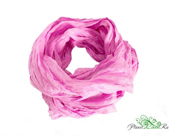 Linen women scarf Linen clothing Purple long scarf Flax linen Gift for her Women Mom For her