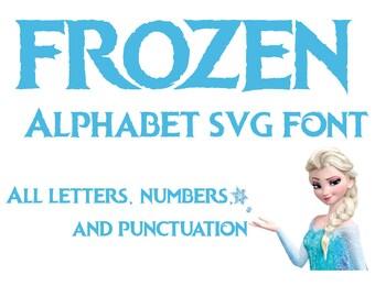 Frozen Font SVG | Frozen Alphabet SVG | Disney Font SVG | Disney Alphabet svg | Disney Frozen svg | Disney cut file | Silhouette Cricut