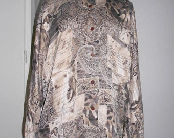 Ellen Tracy silk blouse designed by Linda Allard size 8