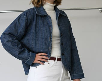 Denim Button Front Jacket