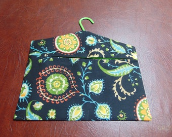 Clothespin Bag -- Black / Green / Yellow
