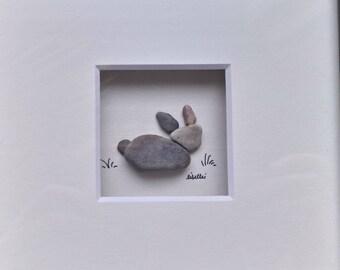 15 x 15 cm original Libellei pebble art