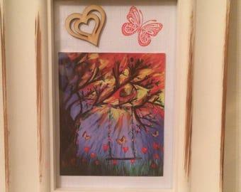 Spring, Summer, Sunshine kooky doodle / framed