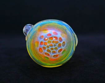 Color Changing Honeycomb glass Pipe