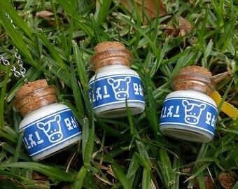 Legend of Zelda Lon Lon Milk bottle charm and necklace