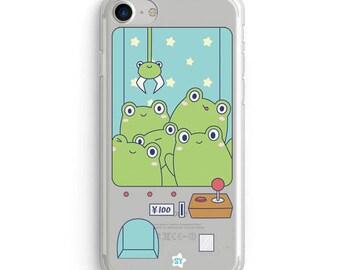 Cute Clear Case for Iphone and Samsung -UFO Kaeru