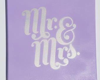 Mr. & Mrs. Canvas (Customizable)