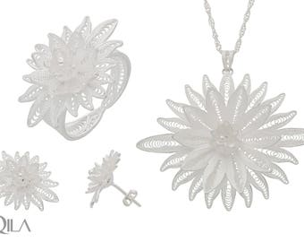 925 sterling silver jewelry set 3teilig S18 TOP