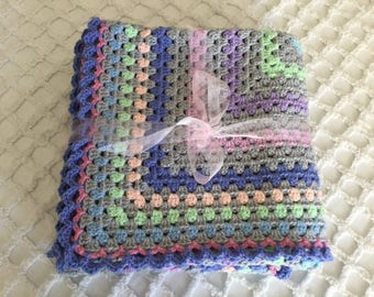 Crochet Baby blanket/throw - very soft and cuddly