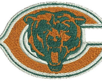 Chicago Bears Football Logo Machine Embroidery Design