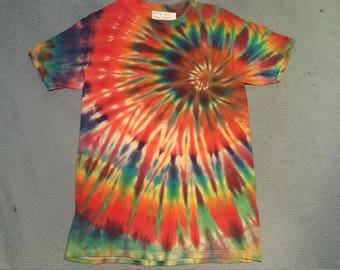 "tie dye t-shirt adult medium""fire spiral"""