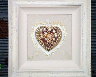 Jewel Encrusted Framed Heart!