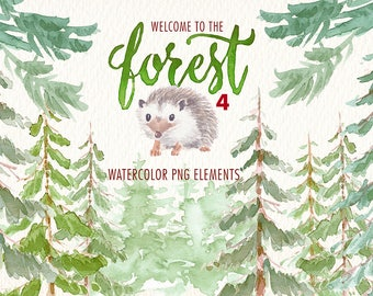 watercolor in the forest png clipart clipart watercolor Ideal printable tags cards posters, stickers, and more