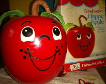 Fisher Price happy apple original 1972 - made in USA