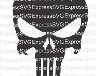 Punisher digital file, svg, cdr, eps, png