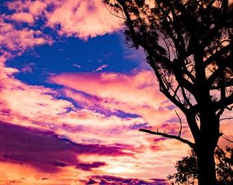 A4 Framed Sun Set on the Manning River
