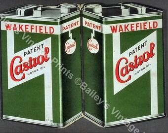 CASTROL Motor Oil Vintage Advertising ART PRINT
