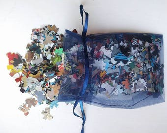 500+ DC comic book BOW confetti in organza bag, perfect for weddings
