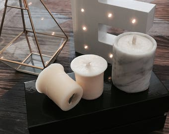 Marble candle with 2 refills
