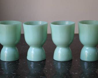 Fire-King Jade-ite Double Egg Cup