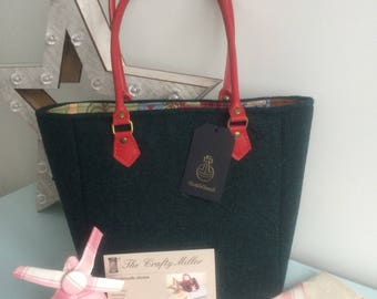 Handmade Harris Tweed Tote Bag