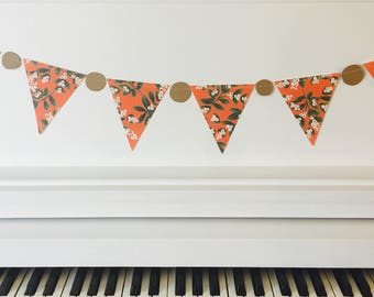 Decorative Paper Flags, Bunting, Banner