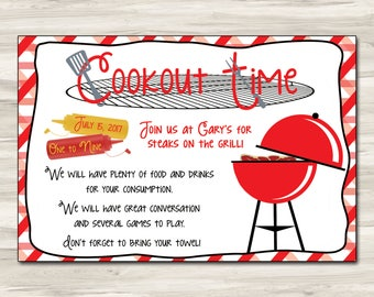 Cookout invitation etsy pronofoot35fo Images