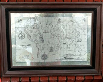 1976 Royal Geographical Society Silver map