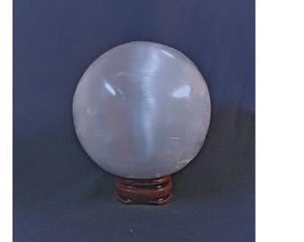 65mm Selenite Sphere w/Stand