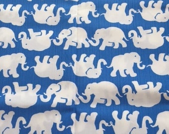 """Lilly Blue Tusk In Sun Fabric 18"""" Square or By The Yard"""