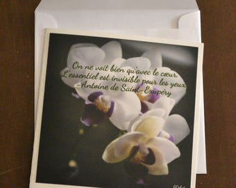 Card with photo for engagement, wedding or anniversary.