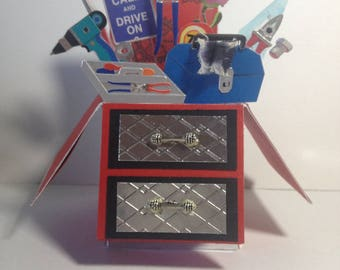 Greeting Card - Toolbox - Pop Up Card