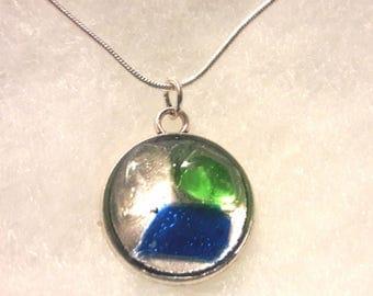 Locket with genuine Sea Glass