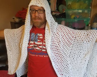 lightweight pure cotton hooded shawl