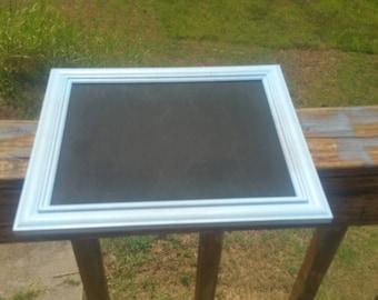 Blue framed chalkboard