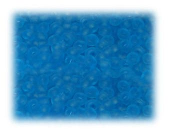 6/0 Turquoise Frosted Glass Seed Beads, 1 oz. bag